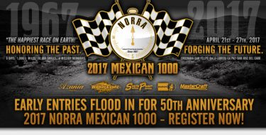 Early Entries Flood In For 50th Anniversary 2017 NORRA Mexican 1000