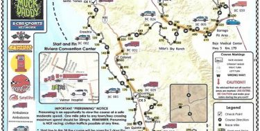 49th Annual SCORE Baja 1000 Map